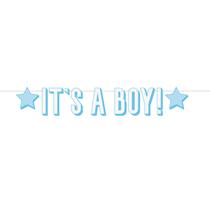 Blue It's a Boy Letter Banner