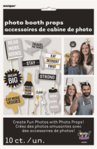 New Year Resolutions Photo Booth Props 10pk