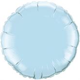 "Pearl Light Blue 18"" Round Foil Balloon"