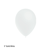 "Decotex Pro 5"" Fashion Solid White Latex Balloons 100pk"