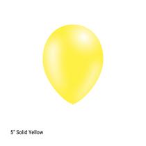 "Decotex Pro 5"" Fashion Solid Yellow Latex Balloons 100pk"