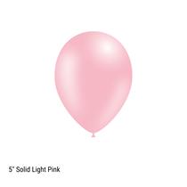 "Decotex Pro 5"" Fashion Solid Light Pink Latex Balloons 100pk"