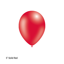 "Decotex Pro 5"" Fashion Solid Red Latex Balloons 100pk"