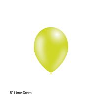"Decotex Pro 5"" Fashion Solid Lime Green Latex Balloons 100pk"