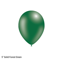 """Decotex Pro 5"""" Fashion Solid Forest Green Latex Balloons 100pk"""