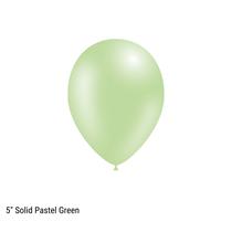 "Decotex Pro 5"" Fashion Solid Pastel Green Latex Balloons 100pk"