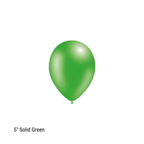 "Decotex Pro 5"" Fashion Solid Green Latex Balloons 100pk"