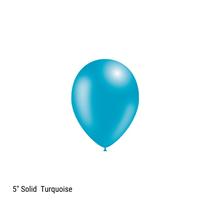 "Decotex Pro 5"" Fashion Solid Turquoise Latex Balloons"