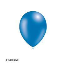 "Decotex Pro 5"" Fashion Solid Blue Latex Balloons 100pk"