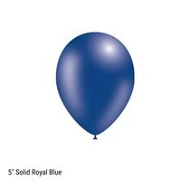 "Decotex Pro 5"" Fashion Solid Royal Blue Latex Balloons 100pk"