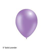 "Decotex Pro 5"" Fashion Solid Lavender Latex Balloons 100pk"