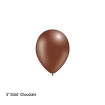 "Decotex Pro 5"" Fashion Solid Chocolate Latex Balloons 100pk"