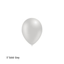 "Decotex Pro 5"" Fashion Solid Grey Latex Balloons 100pk"