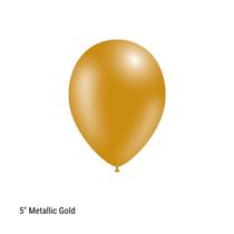 "Decotex Pro 5"" Metallic Gold Latex Balloons 100pk"