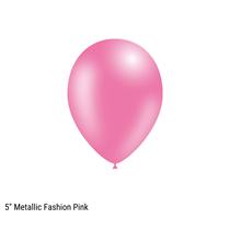 "Decotex Pro 5"" Metallic Fashion Pink Latex Balloons 100pk"