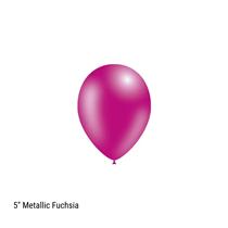 "Decotex Pro 5"" Metallic Fuchsia Latex Balloons 100pk"
