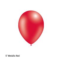 "Decotex Pro 5"" Metallic Red Latex Balloons 100pk"