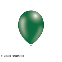 "Decotex Pro 5"" Metallic Forest Green Latex Balloons 100pk"