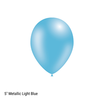 "Decotex Pro 5"" Metallic Light Blue Latex Balloons 100pk"