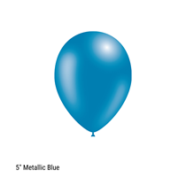 "Decotex Pro 5"" Metallic Blue Latex Balloons 100pk"