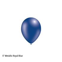 "Decotex Pro 5"" Metallic Royal Blue Latex Balloons"