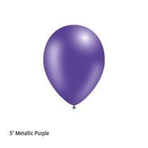 "Decotex Pro 5"" Metallic Purple Latex Balloons 100pk"