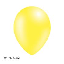 "Decotex Pro 11"" Fashion Solid Yellow Latex Balloons 50pk"