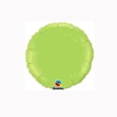 "Lime Green 4"" Round Foil Balloon"
