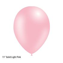 "Decotex Pro 11"" Fashion Solid Light Pink Latex Balloons 50pk"