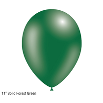 """Decotex Pro 11"""" Fashion Solid Forest Green Latex Balloons 50pk"""