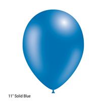 "Decotex Pro 11"" Fashion Solid Blue Latex Balloons 50pk"