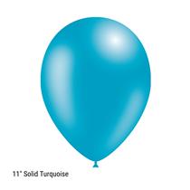 "Decotex Pro 11"" Fashion Solid Turquoise Latex Balloons 50pk"