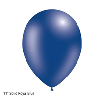 "Decotex Pro 11"" Fashion Solid Royal Blue Latex Balloons 50pk"