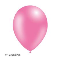 "Decotex Pro 11"" Metallic Fashion Pink Latex Balloons 50pk"