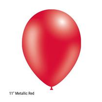 "Decotex Pro 11"" Metallic Red Latex Balloons 50pk"