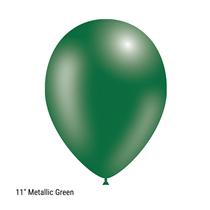 "Decotex Pro 11"" Metallic Forest Green Latex Balloons 50pk"