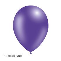 "Decotex Pro 11"" Metallic Purple Latex Balloons 50pk"