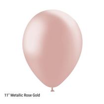 "Decotex Pro 11"" Metallic Rose Gold Latex Balloons 50pk"