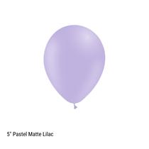 "Decotex Pastel Matte Lilac 5"" Latex Balloons 100pk"