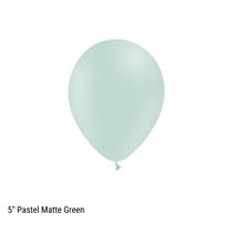 "Decotex Pastel Matte 5"" Green Latex Balloons 100pk"