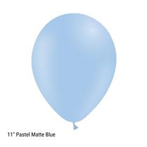 "Decotex Pastel Matte Blue 11"" Latex Balloons 50pk"