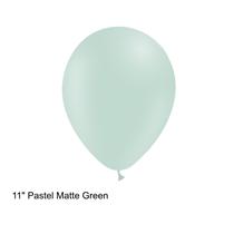 "Decotex Pastel Matte Green 11"" Latex Balloons 50pk"