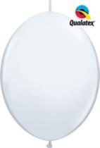 "12"" White Quick Link Latex Balloons - 50pk"
