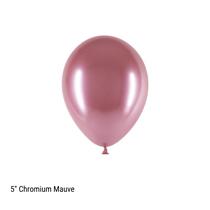 "Decotex Pro 5"" Chromium Mauve Latex Balloons 50pk"