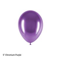 "Decotex Pro 5"" Chromium Purple Latex Balloons 50pk"