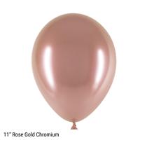 "Decotex Rose Gold Chromium 11"" Latex Balloons 25pk"