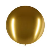 "Decotex Pro Chromium Gold 24"" Latex Balloons 3pk"