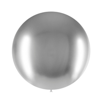 "Decotex Pro Chromium Silver 24"" Latex Balloons 3pk"