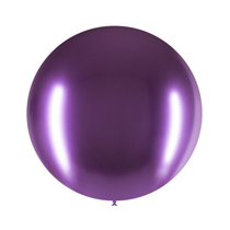 "Decotex Pro Chromium Purple 24"" Latex Balloons 3pk"