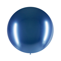 "Decotex Pro Chromium Blue 24"" Latex Balloons 3pk"